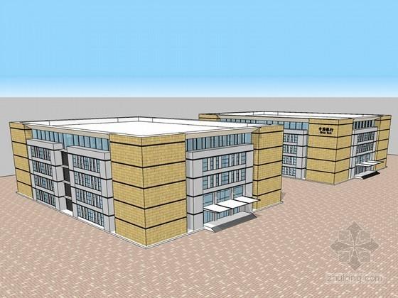 银行办公建筑SketchUp模型下载