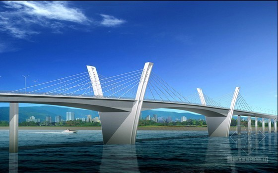2x110m预应力混凝土箱型展翅梁矮塔斜拉桥超全方案(207页 配图丰富)