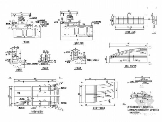 [浙江]城市桥梁桥面系及附属工程施工图设计15张