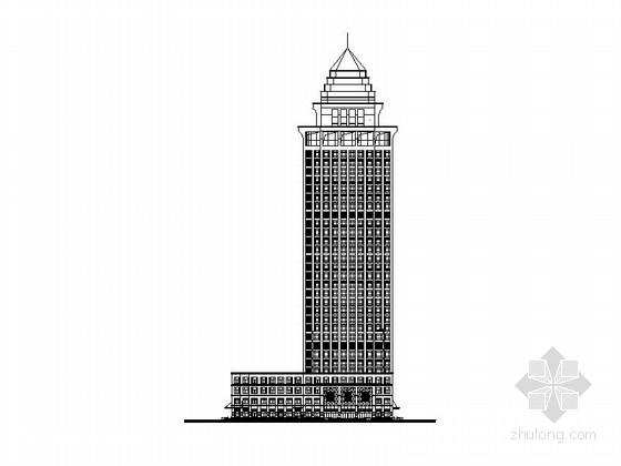 [江苏]三十六层办公楼建筑施工图(含效果图 图纸精细)