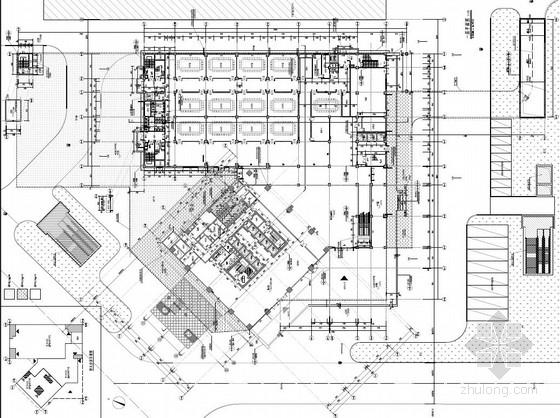 [武汉]超高层百米框架结构办公及会议中心建筑设计方案文本-超高层百米框架结构办公及会议中心建筑首层平面图
