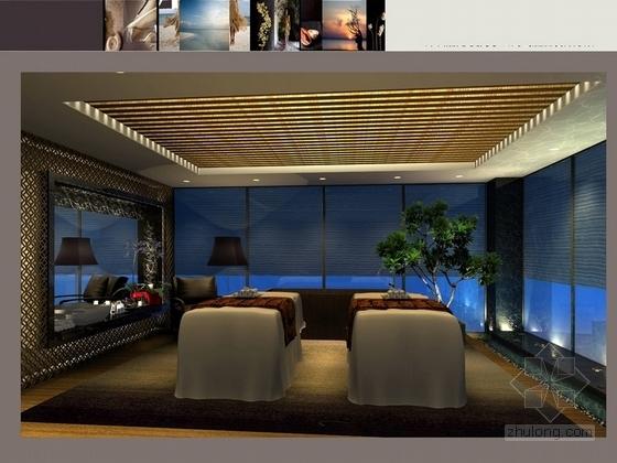 [深圳]龙华知名地产高档酒店式公寓设计装修方案图效果图