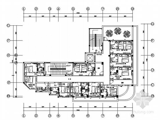 [龙岩]精致现代主题式快捷酒店室内施工图(含高清效果图)