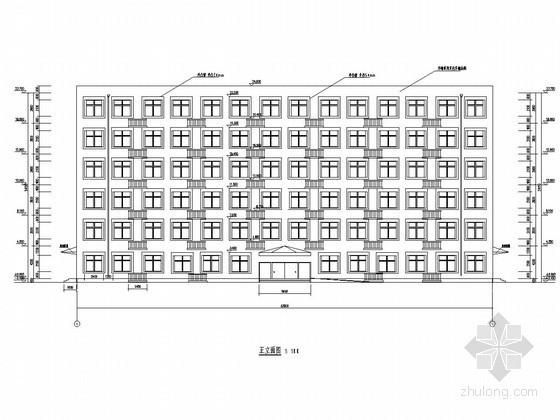 [学士]六层框架结构社区服务中心毕业设计(含建筑图 结构图 计算书)