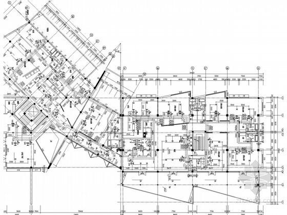 大学行政办公楼采暖空调通风系统设计施工图(含冷冻站)