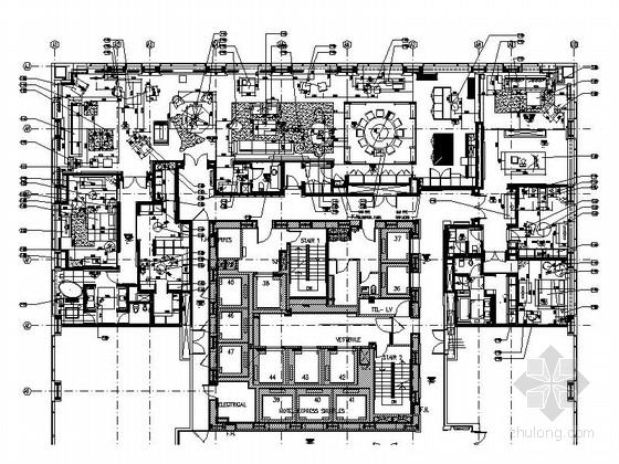 [北京]精品现代简约风格府邸式公寓装修室内设计施工图(含效果)
