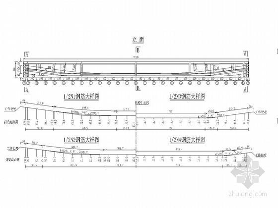 装配式混凝土桥T梁预应力钢束图