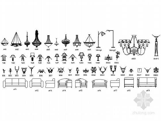 各类家装CAD图块下载
