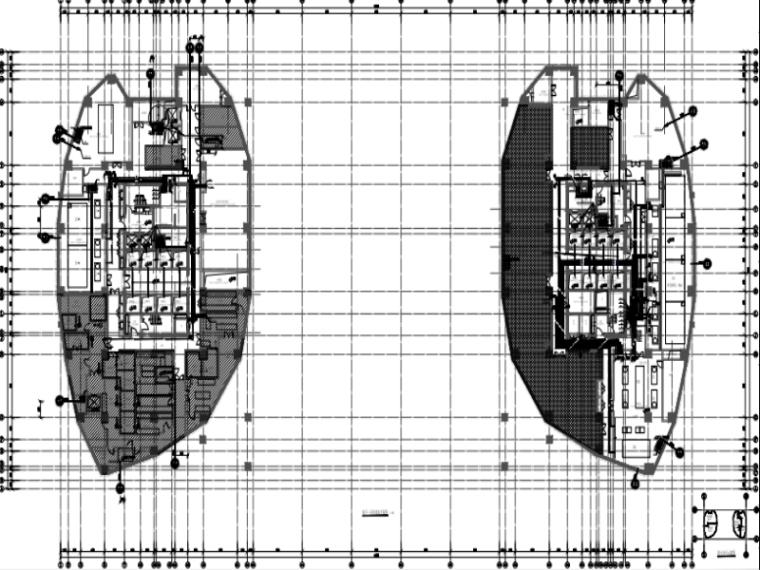 [刚果]超高层双子塔酒店办公楼附属用房给排消防施工图(含泳池)