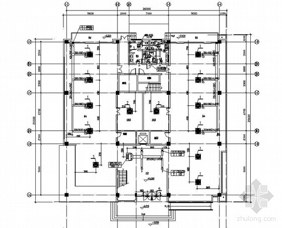 VRV系统办公平面图资料下载-某四层办公楼空调平面图