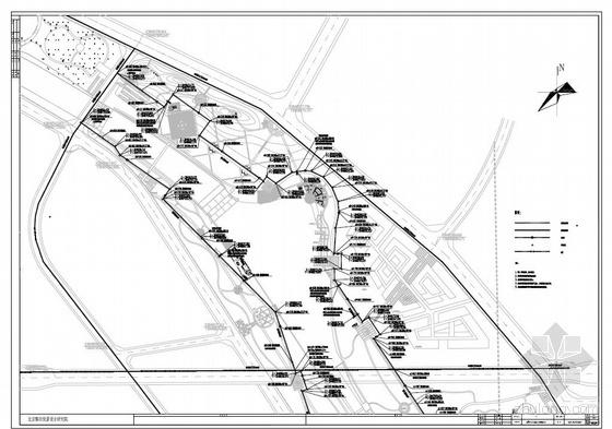 巩义市某公园给排水规划图