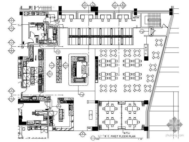 [广州]某酒店一层全日餐厅施工图