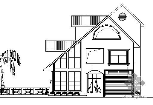 某坡屋顶别墅建筑方案图