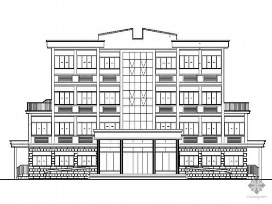 [永平县]某农业局三层综合服务楼施工图设计(含素模)
