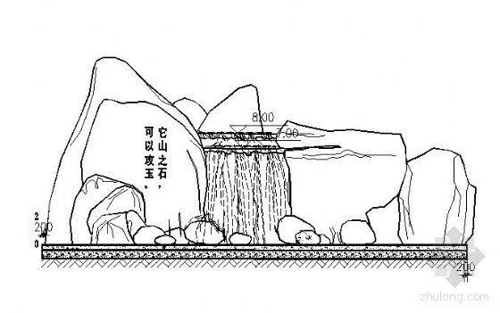 某假山石施工详图
