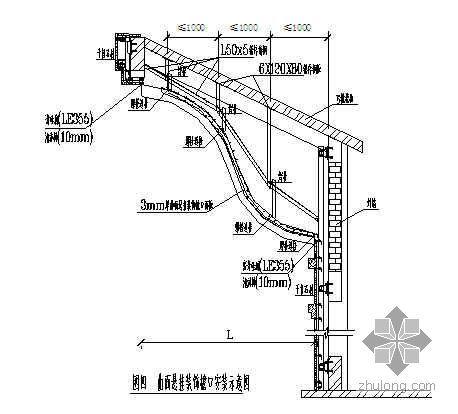 曲面悬挂装饰檐口施工工法