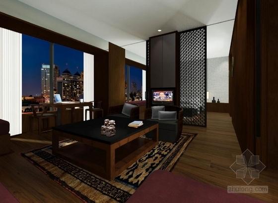 [武汉]特色奢华五星级度假酒店设计概念方案图豪华套房效果图