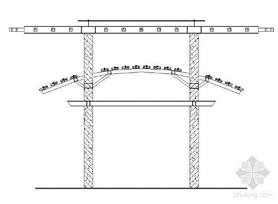 两种现代亭构架建筑施工图