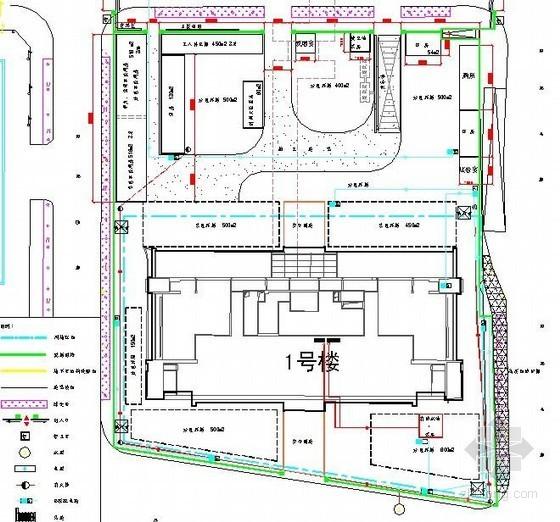 [北京]高层办公楼施工现场平面布置图(结构、装修)