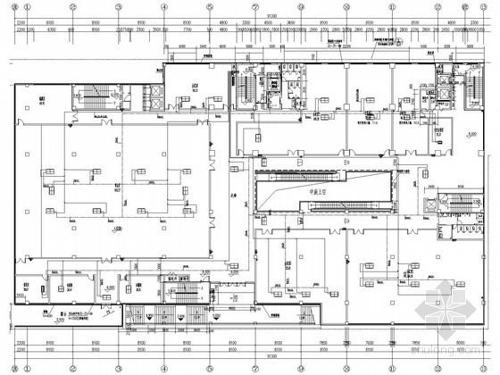 [重庆]高层办公楼空调新风系统设计施工图(含计算书 全直流变频多联机组)