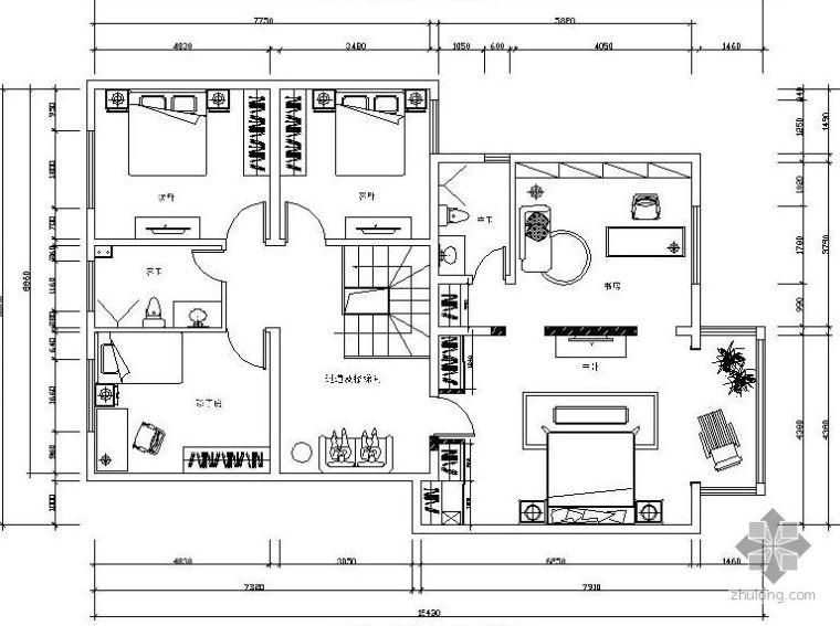 [新疆]两套复式楼平面方案图