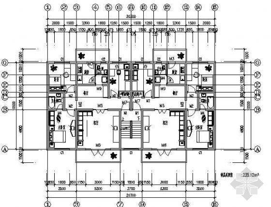 三室两厅一厨两卫120平米