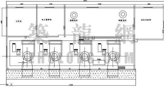 某中小型电站各层平面布置图