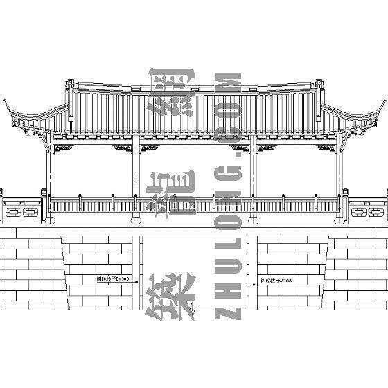 廊亭施工详图(二)