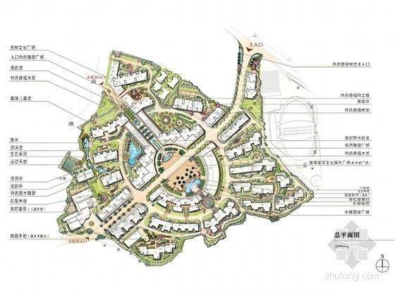 [福州]欧式居住小区景观扩初设计方案