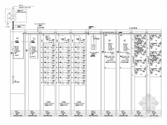 [湖北]全球首座室内电影乐园强电施工图纸(国内外顶级设计院审图意见)-1#工艺用变电所低压配电系统图