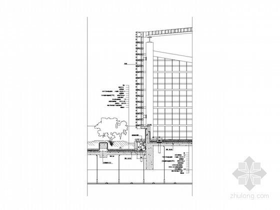 [江苏]37层企业办公楼墙身节点大样图(上海知名公司设计)