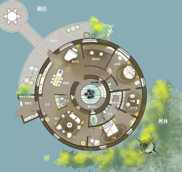 深度解析!一个圆形户型的15个高超方案!_12