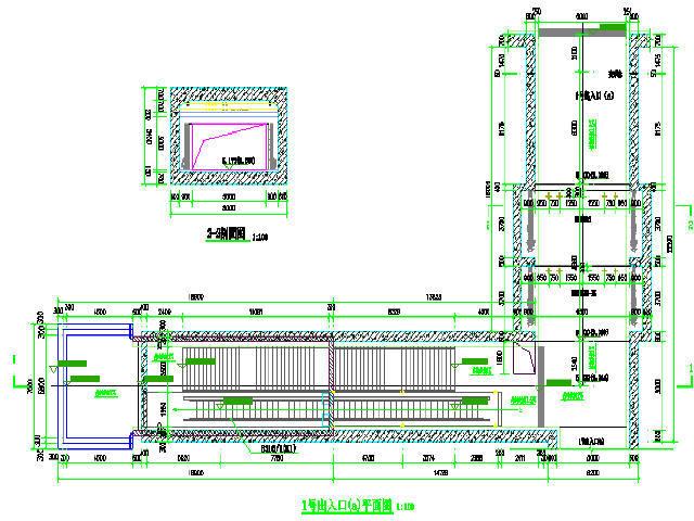 合肥市明挖顺筑法地下两层框架结构双跨岛式车站设计图116张