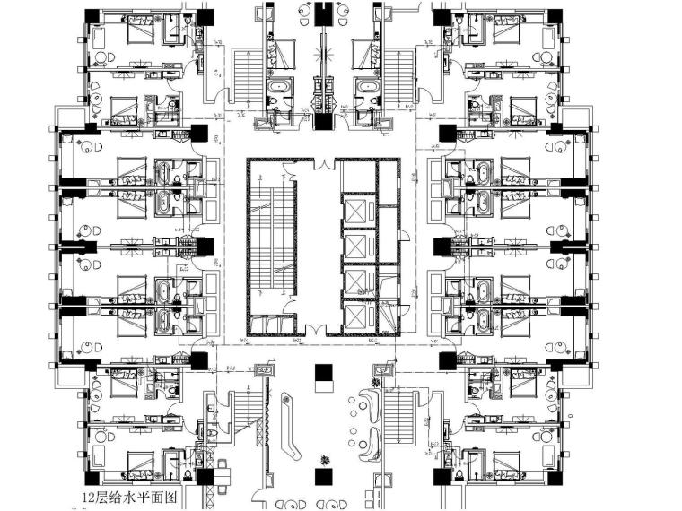 [贵州]酒店装修给排水通风施工图设计(最新设计)