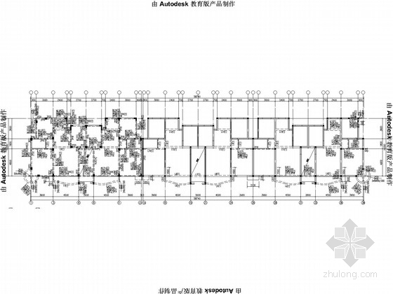 六层框架异形柱住宅结构施工图