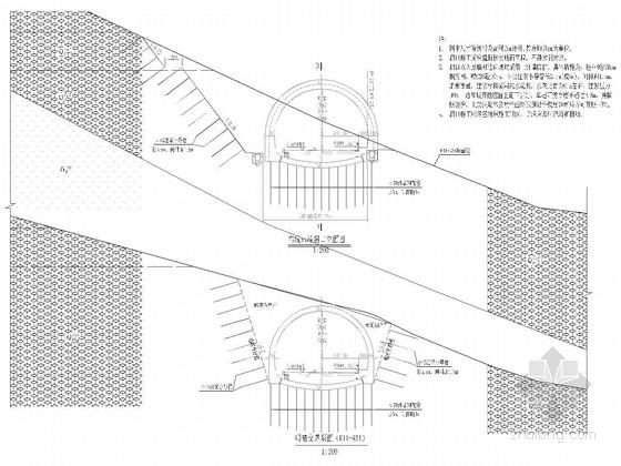 [四川]行车道宽3.75×2m隧道竣工图131张(结构排水装修监测)