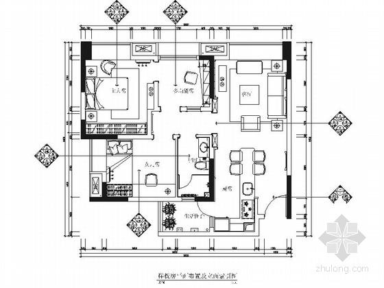 经典北欧风格两居室室内装修施工图
