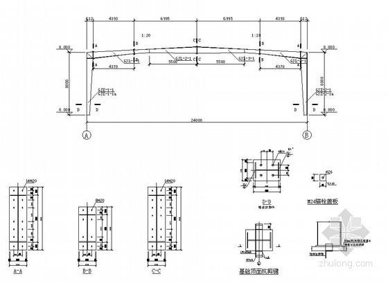 [学士]24米跨门式钢架厂房毕业设计(含建筑、结构图,答辩PPT)