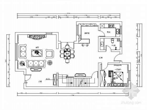 美式古典三层别墅实木装修图(含效果)