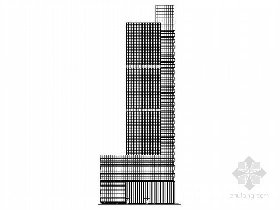[湖南]现代风格高层办公楼设计施工图(知名地产)
