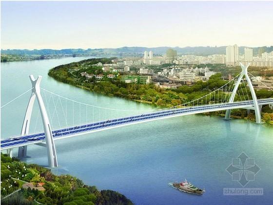 410m三跨连续钢箱梁悬索桥悬索系统施工专项安全方案109页(含猫道计算书)