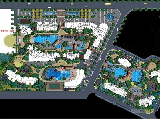 [福建]湖畔花园居住区景观及细部设计方案(103张效果图)