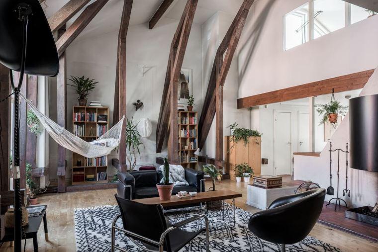 斯德哥尔摩顶层公寓改造-1