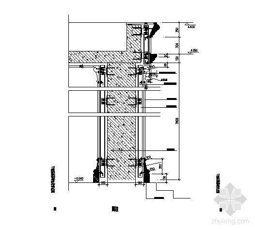 干挂石材幕墙节点图(圆柱)