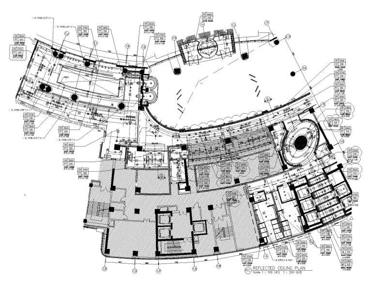 [HBA]浙江丽笙东港大酒店室内装修竣工图(材料手册+公共区域CAD+客房区域CAD)