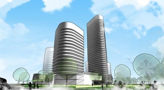 超高层办公及商业建筑设计效果图