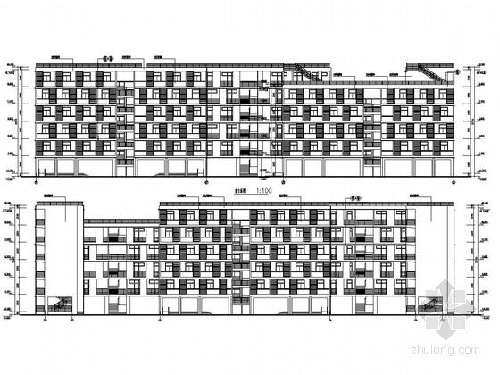 [广东]五层异形柱框架结构研究生宿舍楼建筑结构施工图