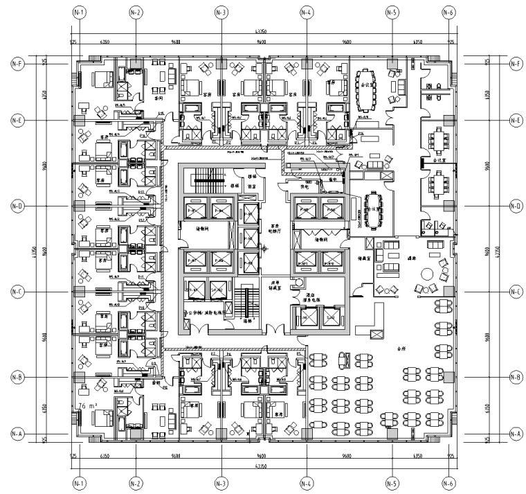 浙江省大型商业广场电气施工图