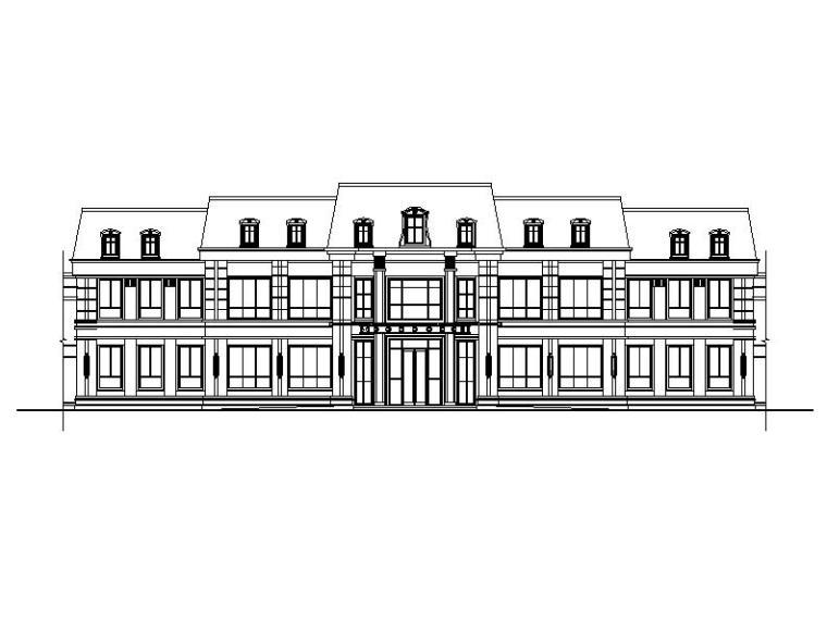 [浙江]两层坡屋顶商业及会所建筑施工图