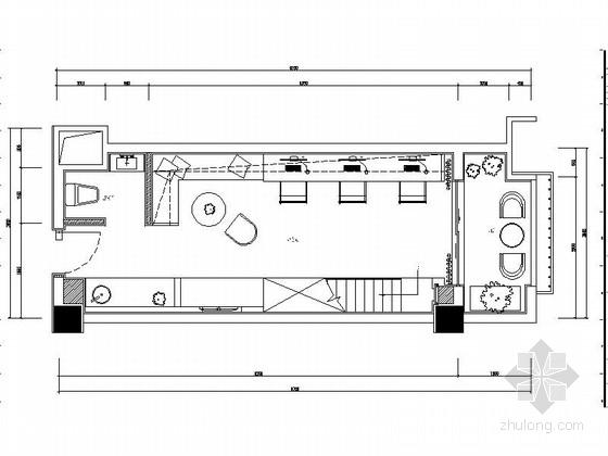 [贵州]精品LOFT办公样板间室内装饰设计CAD图(含效果)